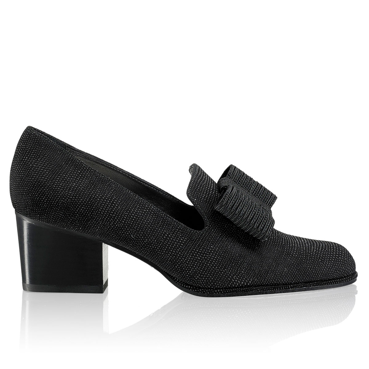 Russell And Bromley ATTA BOW Block Heel Bow Court