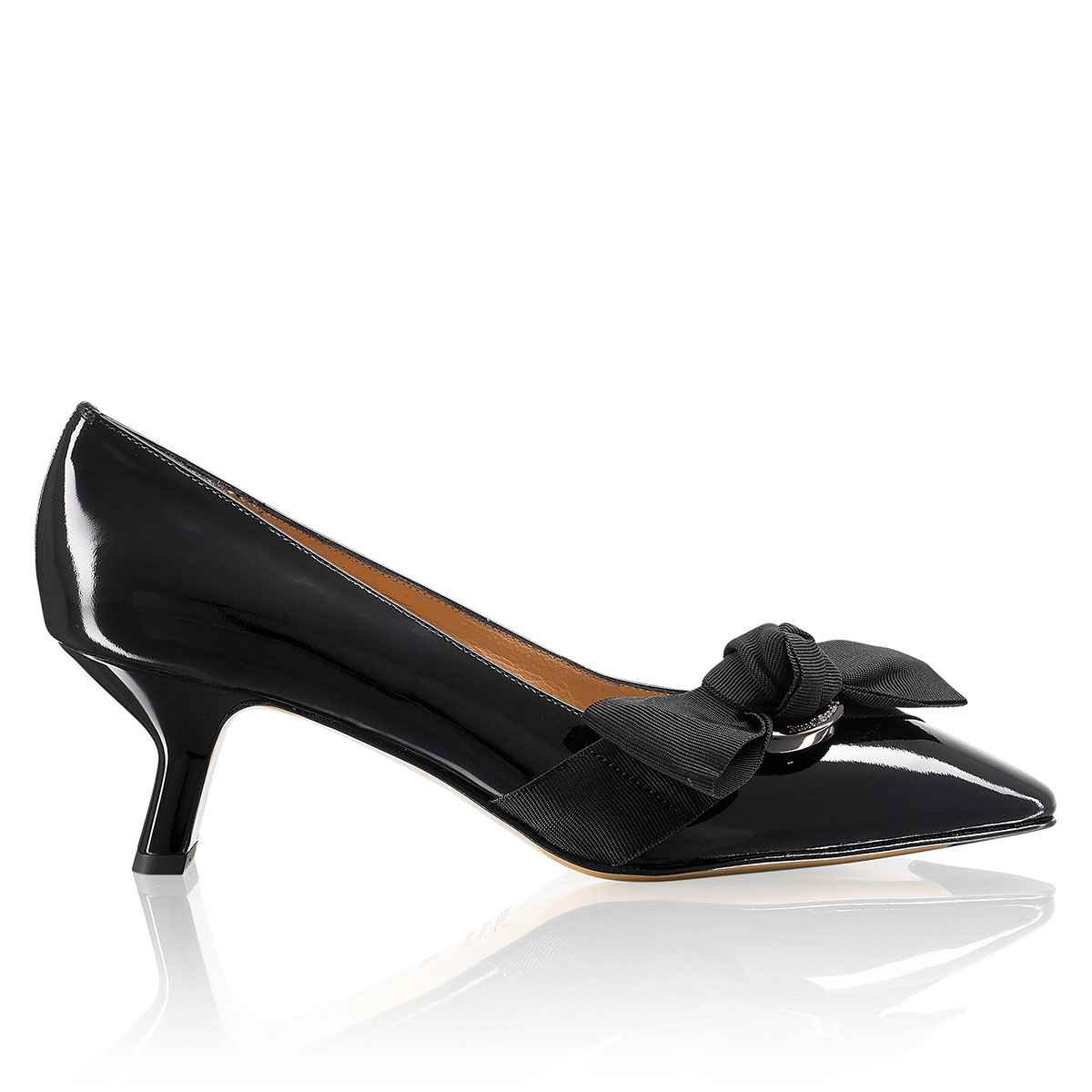 Russell And Bromley KICK BACK Kitten Heel Court