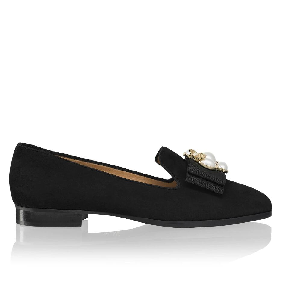 Russell And Bromley BEE LINE Pearl Trim Flat