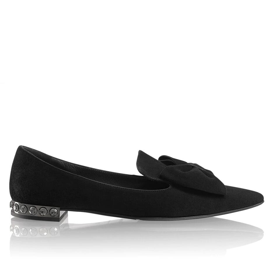 Russell And Bromley BON BON Bow Trim Jewel Heel Flat