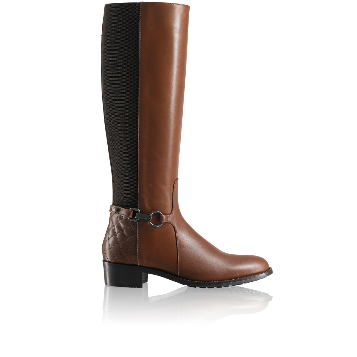 Russell And Bromley ORACLE-DRY Quilt Heel Riding Boot