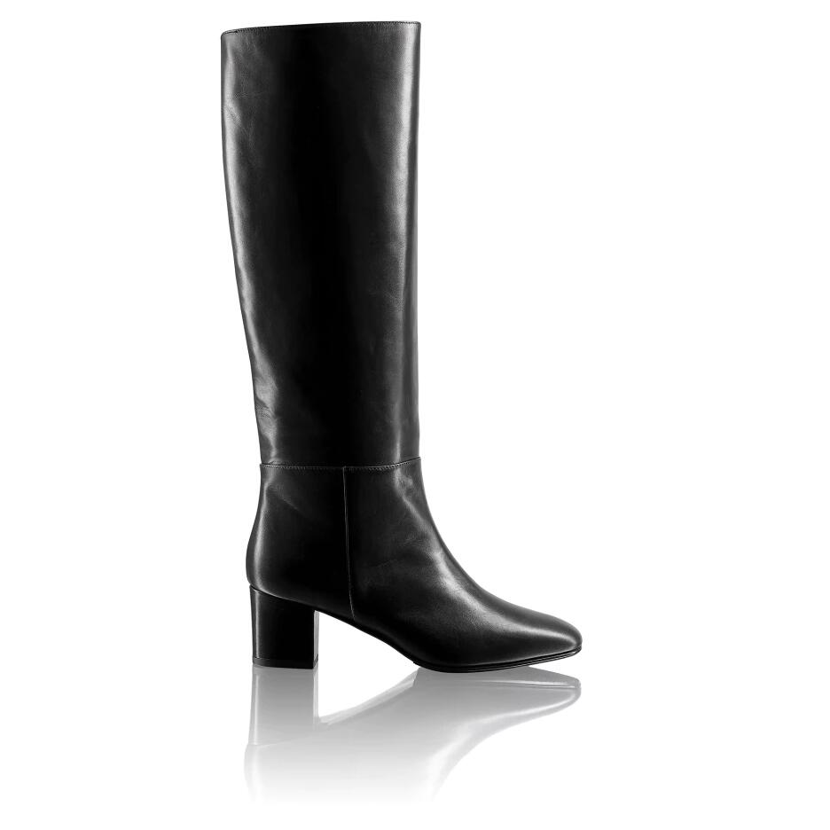 Russell And Bromley TRILOGY Mid Heel Tubular Boot