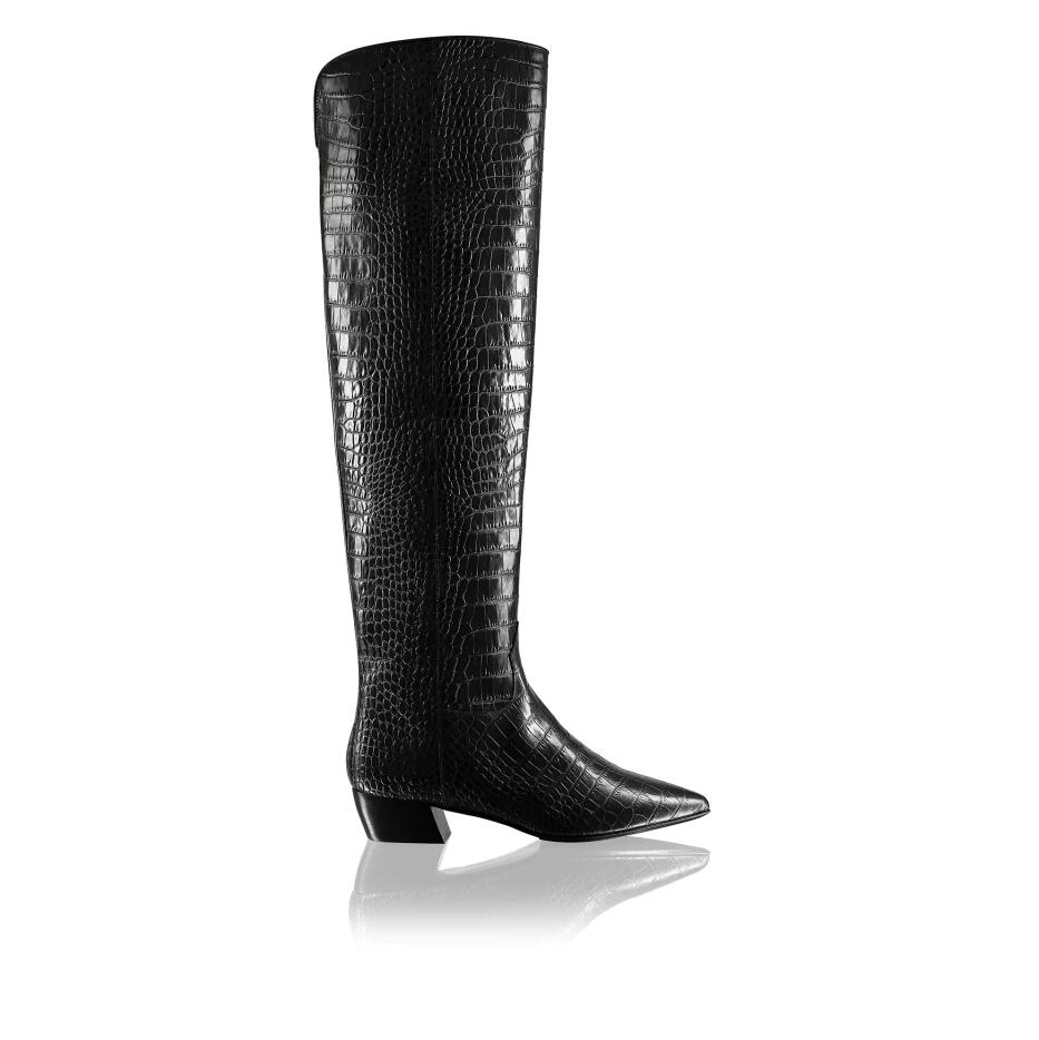 Russell And Bromley CROCKNROLL Pointed Toe Tubular Boot